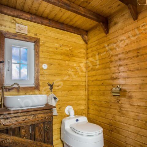 bathroom wooden house Sweden