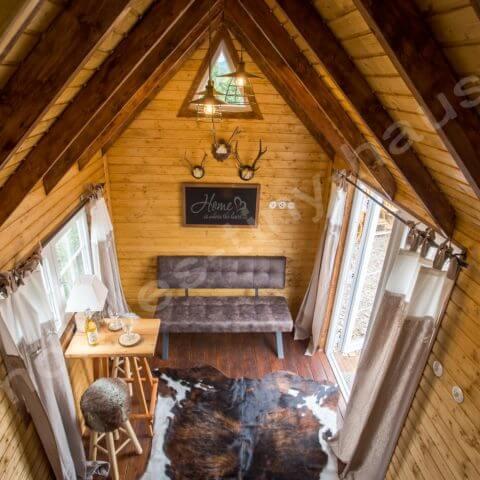 Blick von oben Holzhaus Schweden