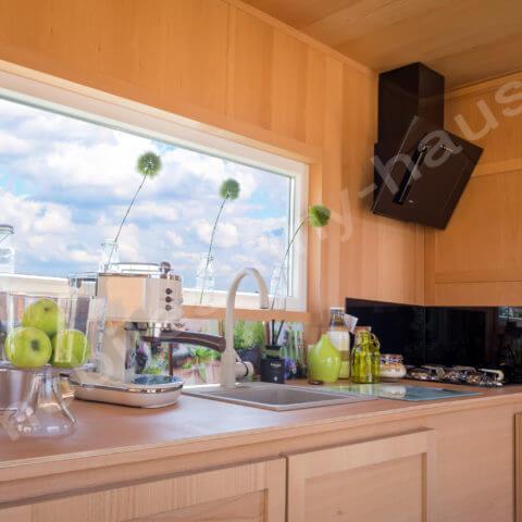 Küchenbereich Holzhaus Finnland