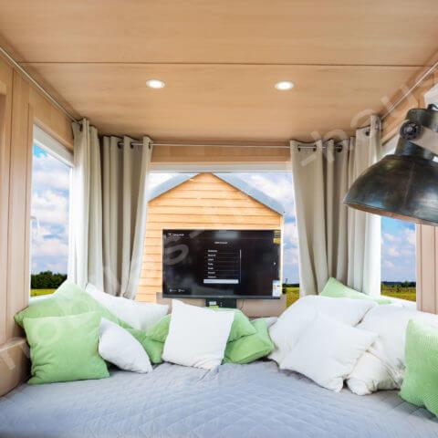 Schlafbereich Holzhaus Finnland