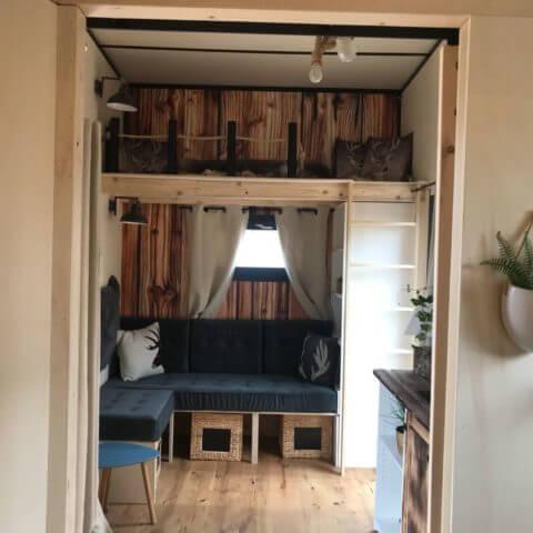 Innenansicht Holzhaus Canada