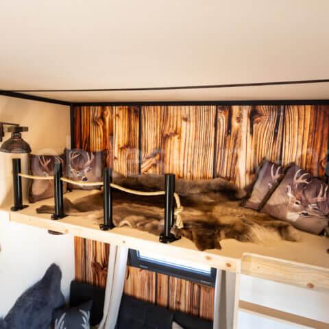 bedroom wooden house Canada