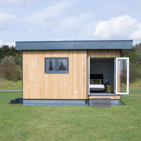 Aussenansicht Holzhaus