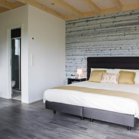 Schlafbereich Holzhaus