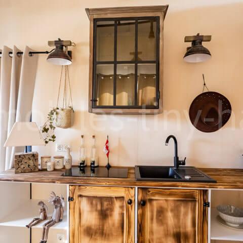 Küchenbereich Holzhaus Canada