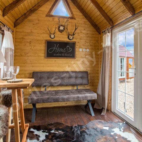 Wohnbereich Holzhaus Schweden