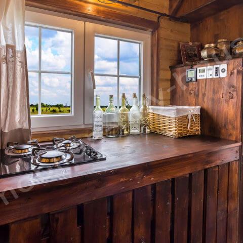 Kochbereich Holzhaus Schweden