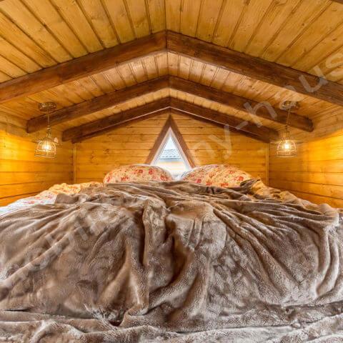 bedroom wooden house Sweden