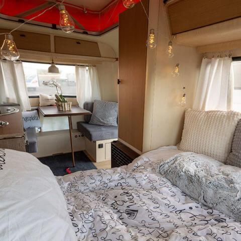 Wohnwagen Eriba - Schlafbereich