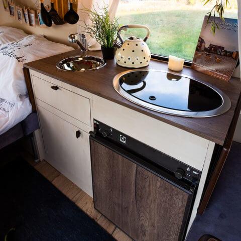 Wohnwagen Eriba - Küchenbereich