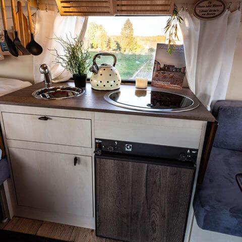 Wohnwagen Eriba - Kochbereich