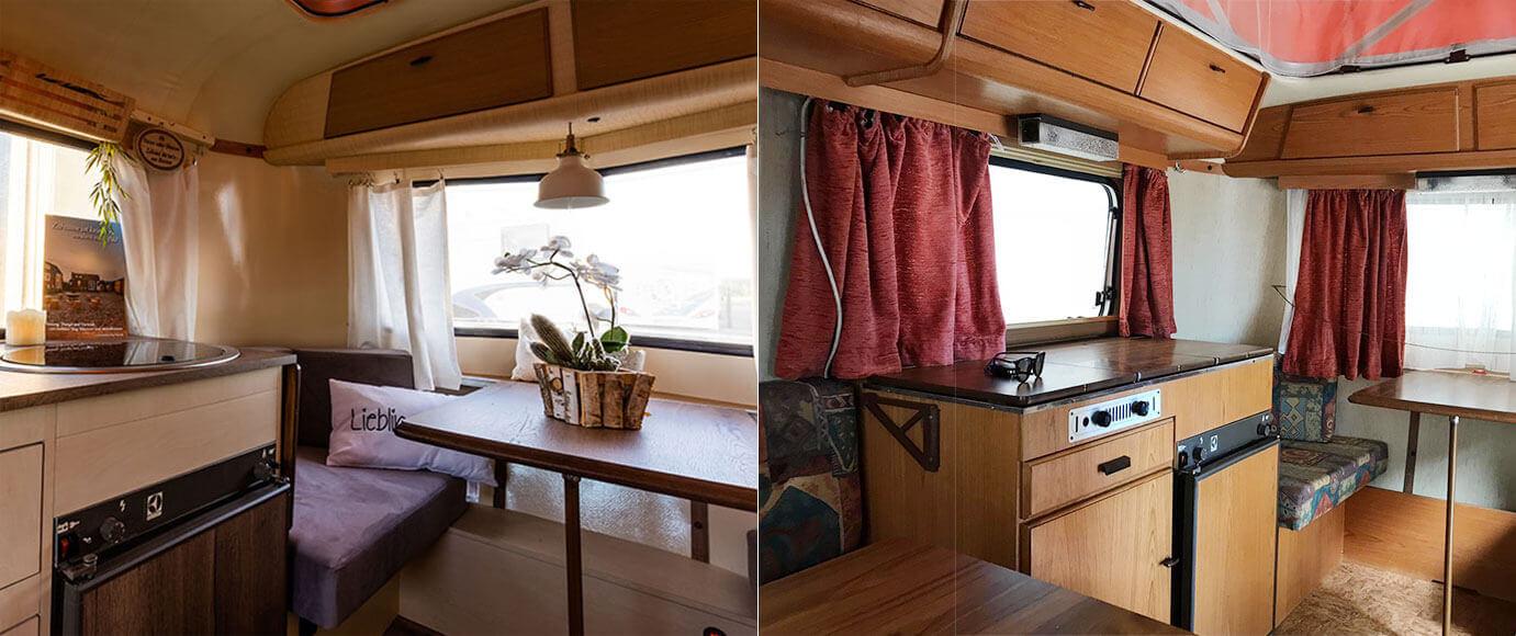 umbau wohnwagen mobiles tiny house umbauarbeiten vorher nachher eriba02 mobiles tiny haus. Black Bedroom Furniture Sets. Home Design Ideas