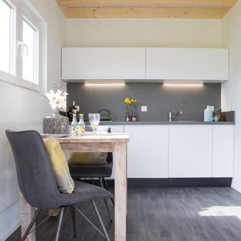 Küchenbereich Holzhaus
