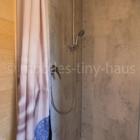 Holzhaus Dusche