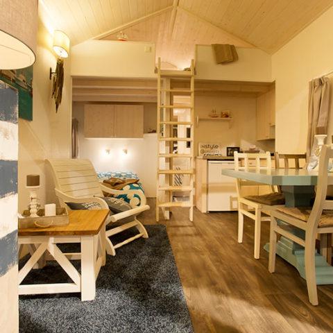Mobiles Holzhaus Innenbereich