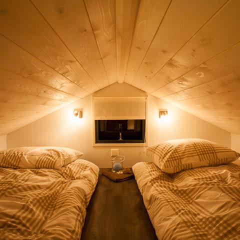 Mobiles Holzhaus Schlafbereich