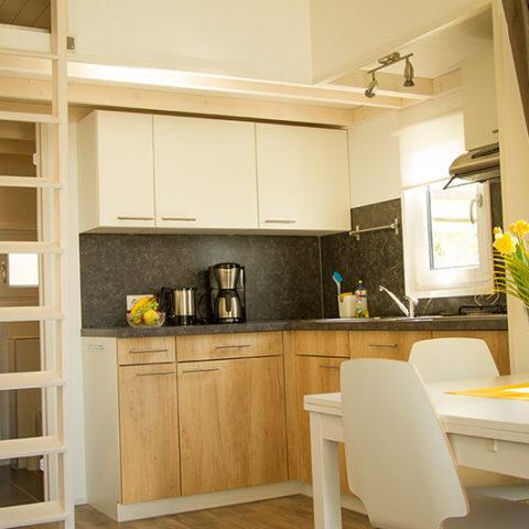 Mobiles Holzhaus Wohnbereich