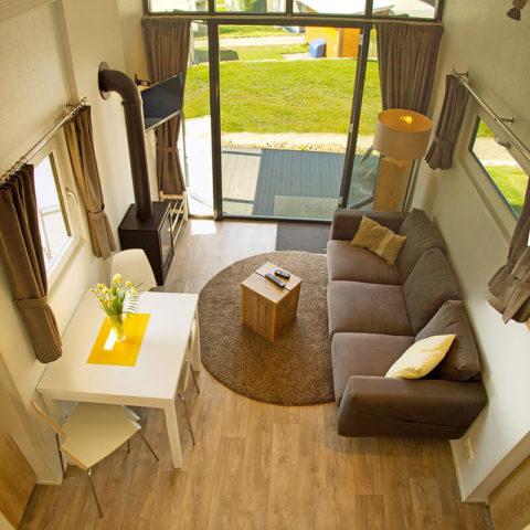 Mobiles Holzhaus Innenansicht