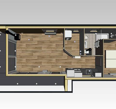 Mobiles Holzhaus