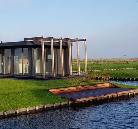 Mobiles Holzhaus Aussenansicht