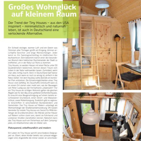 Mobiles Tiny House im Kassel Magazin StadtZeit